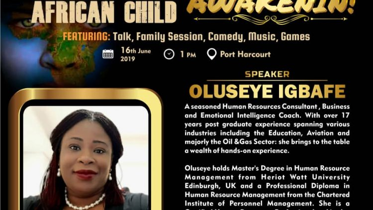 OLUSEYE IGBAFE – AWAKENIN – International Day of The African Child 2019 Speaker