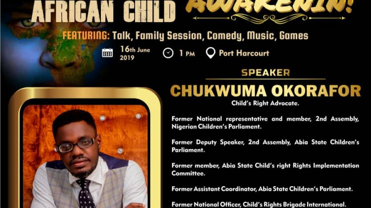CHUKWUMA OKORAFOR -AWAKENIN – International Day of The African Child Speaker 2019