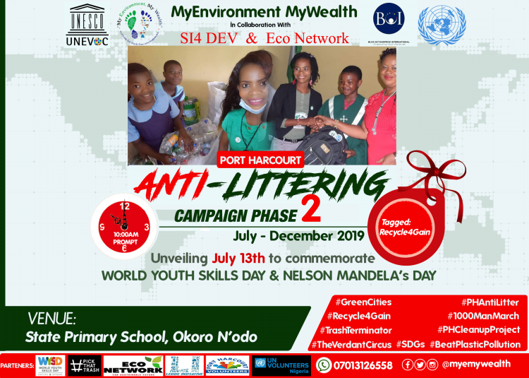 WORLD YOUTH SKILLS DAY & NELSON MANDELA DAY #RECYCLE4GAIN